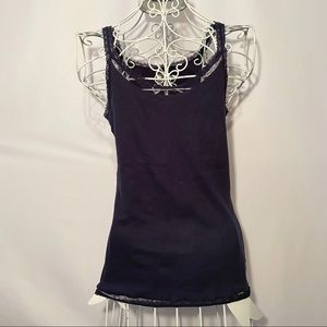 Converse Navy Blue Lace Lined Tank Size Medium